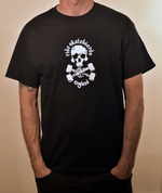 Ride Skull and Trucks T Shirt White Print on Black Shirt
