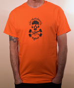Copy of Special Edition Ride Shop Skateboard ORANGE T Shirt Skull & Trucks