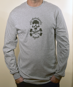 Special Edition Ride Shop Skateboard GREY Long Sleeve T Shirt Skull & Trucks