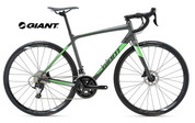 2018 GIANT CONTEND SL1 DISC (MATT CHARCOAL/NEON GREE)