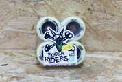 BONES ROUGH RIDERS WHITE/BLACK 56MM WHEELS