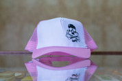 RIDE SHOP BMX SKULL & CRANKS TRUCKER HAT PINK