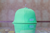 VANS SMALL LOGO SNAPBACK HAT LIME GREEN