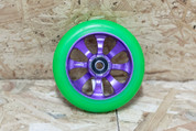 FASEN 8 SPOKE WHEEL GREEN/PURPLE 110MM