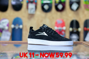 LAKAI BRISTOL BLACK/WHITE UK11