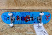 ENUFF SKULLY COMPLETE SKATEBOARD BLUE 7.75