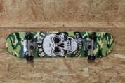 Rocket Camo Combat Skull Complete Skateboard