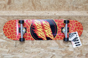 SANTA CRUZ FLAME DOT COMPLETE SKATEBOARD 8.25""