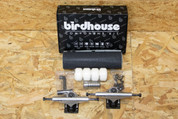 BIRDHOUSE SKATEBOARD COMPONENT KIT BLACK SILVER 5.25""