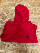 RIDE SKULL AND CRANKS ZIP HOODIE SMALL RED