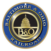 Baltimore & Ohio (B&O) Wooden Plaque