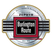 Burlington Route Wooden Plaque