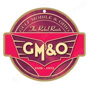 GM&O Wooden Railroad Plaque