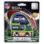 NFL Seattle Seahawks Wooden Train Engine