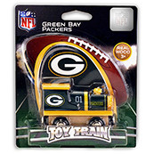 NFL Green Bay Packers Wooden Train Engine