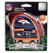 NFL Denver Broncos Wooden Train Engine