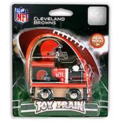 NFL Cleveland Browns Wooden Train Engine