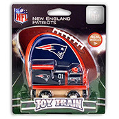 NFL New England Patriots Wooden Train Engine