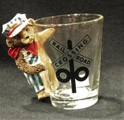 Railroad Crossing Bear Shot Glass