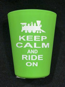 Keep Calm and Ride On Shot Glass- Green