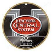 New York Central System Wooden Plaque
