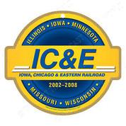 IC & E Railroad Wood Plaque