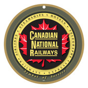 CN- Canadian National Railways Maple Leaf Wooden Plaque