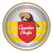 CP Canadian Pacific Beaver Logo Wooden Plaque