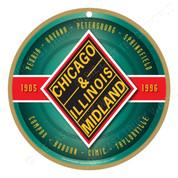 Chicago & Illinois Midland Wooden Plaque