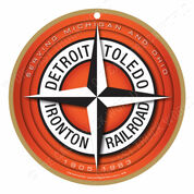 Detroit, Toledo & Ironton Railroad Wooden Plaque