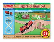 Melissa & Doug Classic Wooden Figure 8 Train Set (22 pcs)
