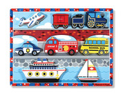 Melissa & Doug® Vehicles Wooden Chunky Puzzle - Plane, Train, Cars, and Boats (9 pcs)