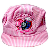 "Thomas & Friends™ ""I Spent A Day Out With Thomas"" Pink Striped Engineer Hat"
