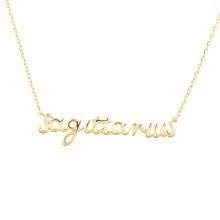 Sagittarius Zodiac Script Necklace
