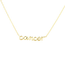 Cancer  Zodiac Script Necklace