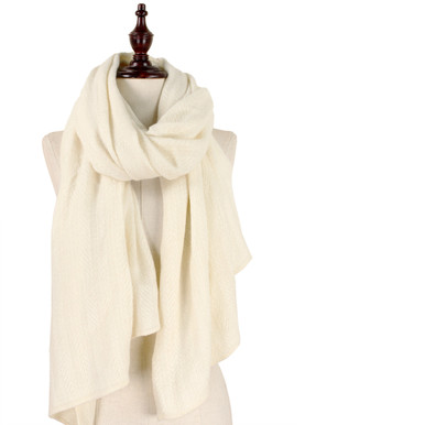 Solid Soft Knit Scarf Ivory