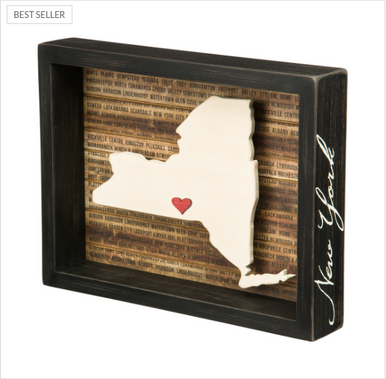 New York State Box Sign Primitives By Kathy