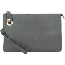 Buckle Clutch Dark Grey