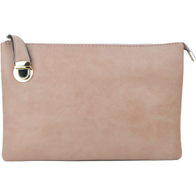Buckle Clutch Blush