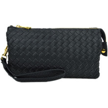 Perfect Woven Clutch Black
