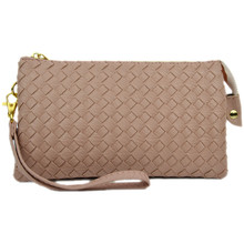perfect woven clutch blush