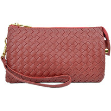 Perfect Woven Clutch Burgundy