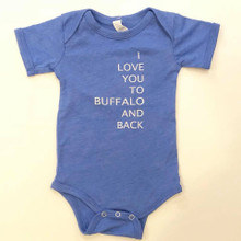 Buffalo And Back Onesie Blue