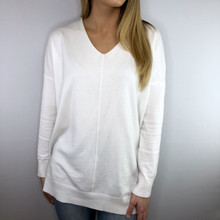 Dreamers V Neck Sweater White