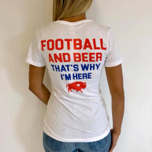 Football and Beer Buffalo Tee