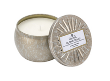 Petite Decorative Tin Candle, Blond Tabac