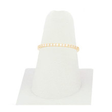 Simple Crystal Ring Sz 8 Gold