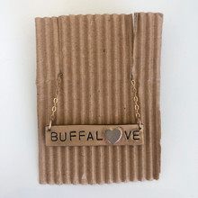 14K Gold Buffalove Necklace