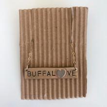 14K Gold Buffalove Necklace