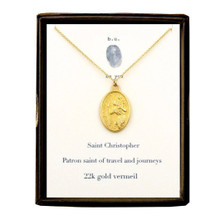 Saint Christopher Necklace Gold
